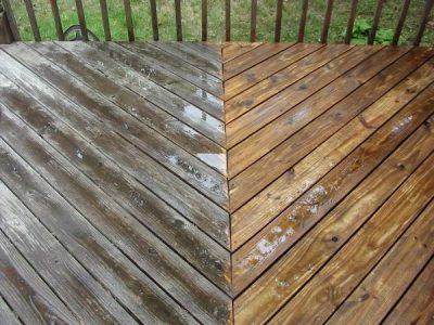 wood deck pressure washing services